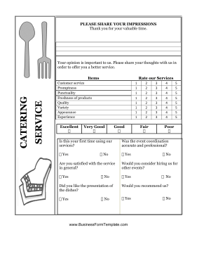 restaurant expense sheet
