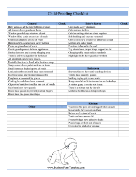 Childproofing Checklist Template
