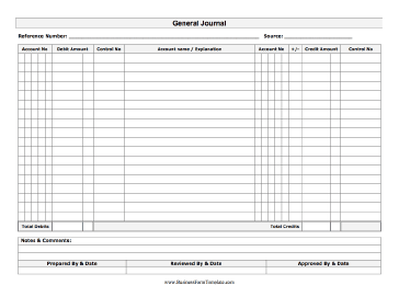 Free General Ledger Forms http://www.businessformtemplate.com/preview/General_Journal