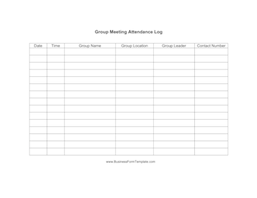 Meeting Attendance Roster Welcome Printable Weekly Agenda Templates ...