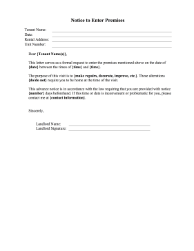tenant lease non renewal letter