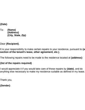 rental termination letter from landlord