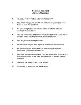 sample interview form template