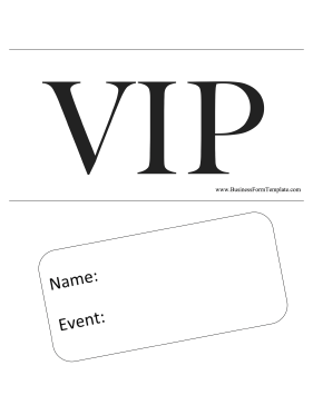 Delicate image for free printable vip pass template
